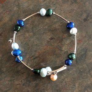 "Vantel Pearls ""Seaside"" Wrap Bracelet"